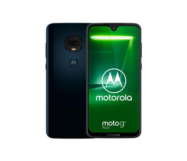 Motorola Moto G7 Plus 4/64GB Dual SIM granatowy + etui - 478819 - zdjęcie