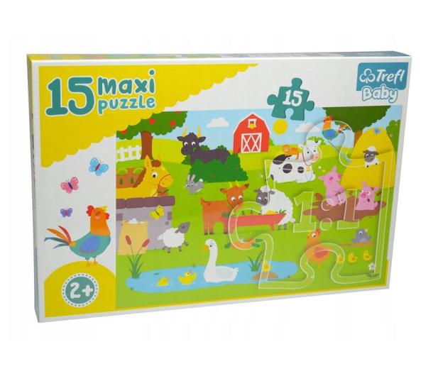 Trefl 15 el MAXI Zwierzęta na wsi  - 479254 - zdjęcie