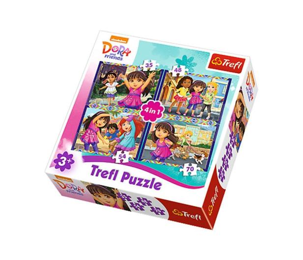 Trefl 4w1 Dora i przyjaciele  - 479508 - zdjęcie