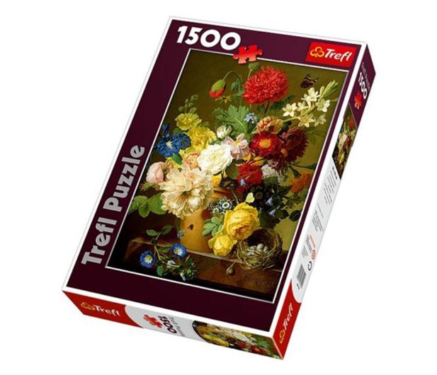 Trefl 1500 el Martwa natura z kwiatami  - 479225 - zdjęcie