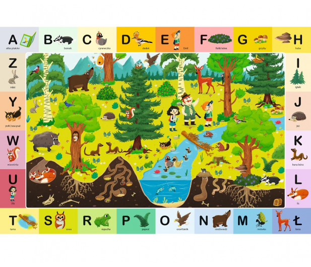 Trefl 48 el edukacyjne Leśny Alfabet - 479567 - zdjęcie 2