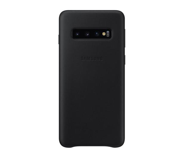 Samsung Leather Cover do Galaxy S10 czarny - 478361 - zdjęcie