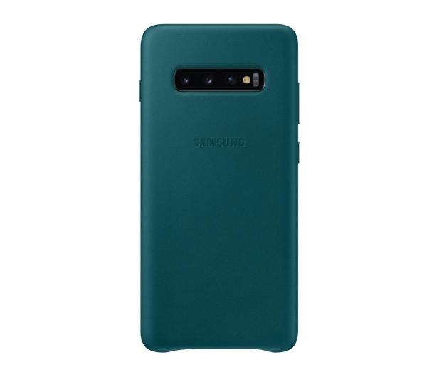 Samsung Leather Cover do Galaxy S10+ zielony - 478405 - zdjęcie