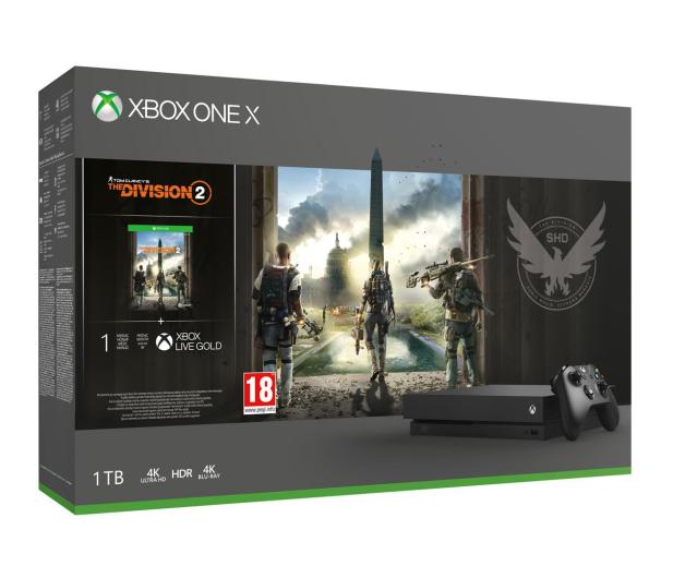 Microsoft Xbox One X 1TB + The Division2 - 481287 - zdjęcie