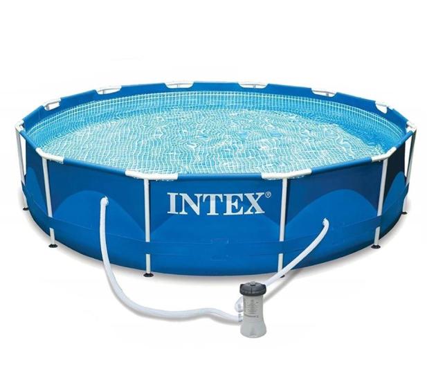 INTEX Basen stelażowy ogrodowy 366x76 cm - 477369 - zdjęcie