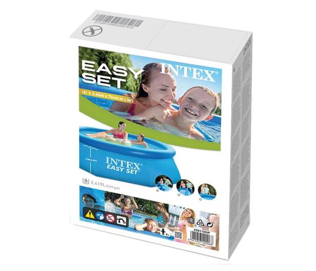 INTEX Basen rozporowy Easy Set 244x76 cm - 477342 - zdjęcie 2