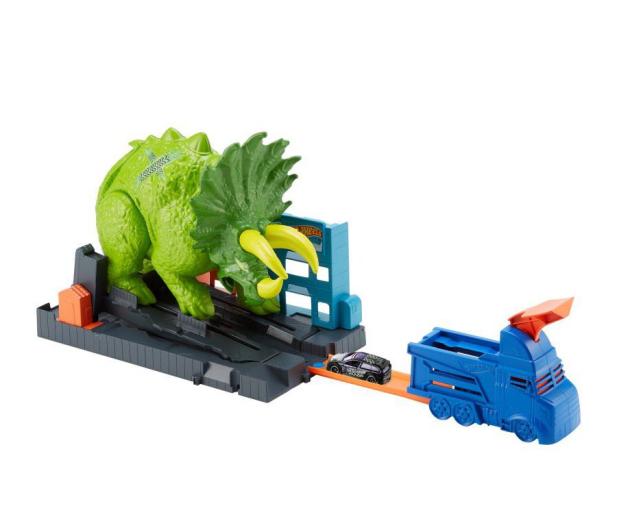Hot Wheels City Zestaw Starcie Z Triceratopsem - 477998 - zdjęcie