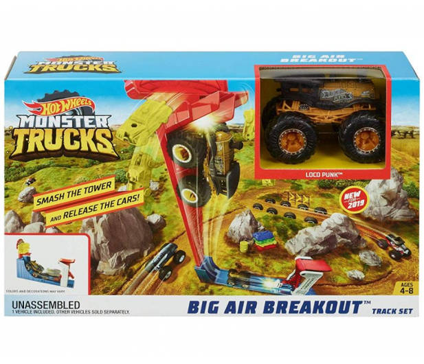 Hot Wheels Monster Trucks Kaskaderski skok Zestaw - 471639 - zdjęcie