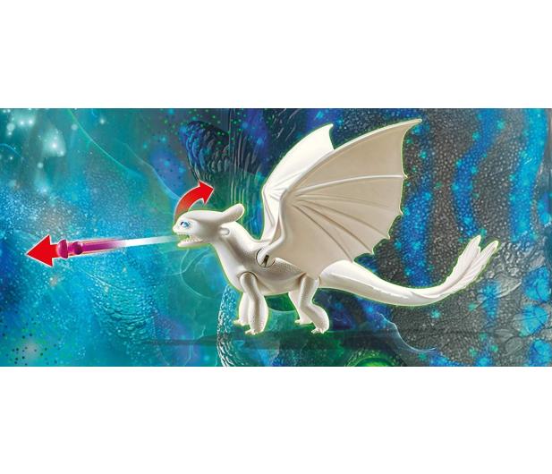 PLAYMOBIL Biała Furia z małym smokiem i dziećmi - 478465 - zdjęcie 3