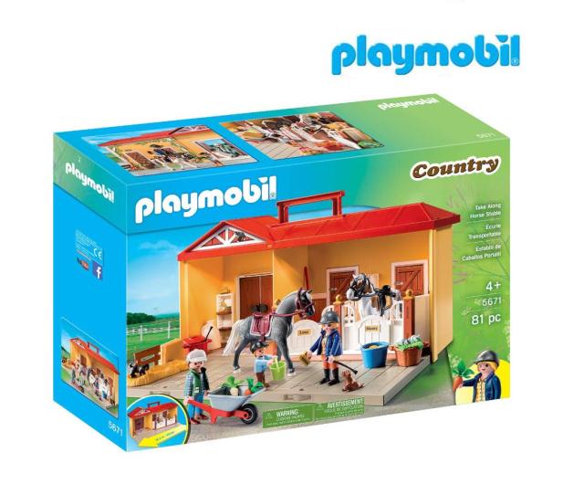 PLAYMOBIL Nowa przenośna stajnia - 483428 - zdjęcie