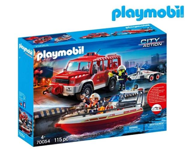 PLAYMOBIL Samochód strażacki z łodzią strażacką - 483436 - zdjęcie