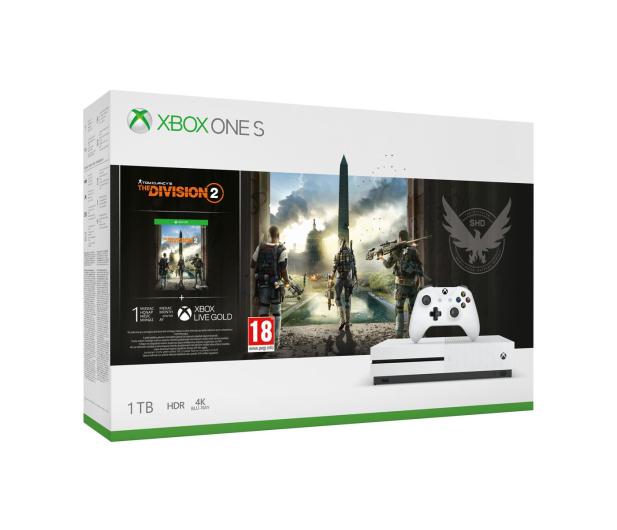 Microsoft Xbox One S 1TB + The Division 2 - 485566 - zdjęcie