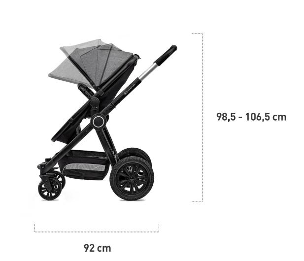 Kinderkraft Veo 2w1 Black/Gray - 463169 - zdjęcie 6