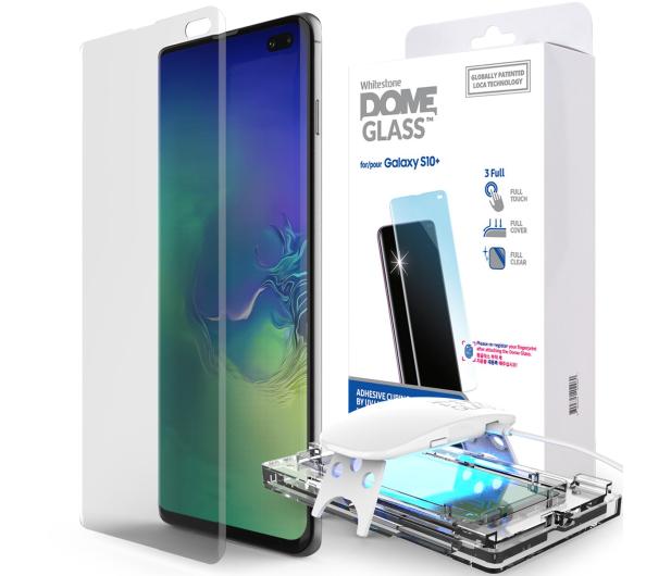 Whitestone Szkło Hartowane Dome Glass + UV do Galaxy S10+ - 485189 - zdjęcie