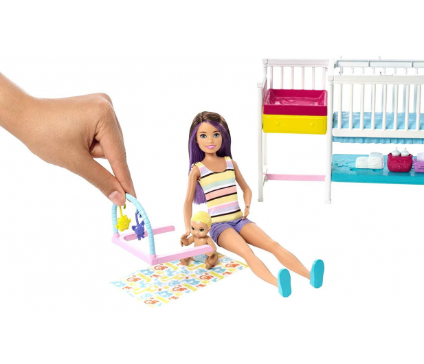 Barbie Zestaw Opieka Nad Maluszkiem + Lalka - 487228 - zdjęcie 2