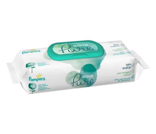 Pampers Chusteczki Aqua Pure NASĄCZONE WODĄ 48szt  - 487286 - zdjęcie