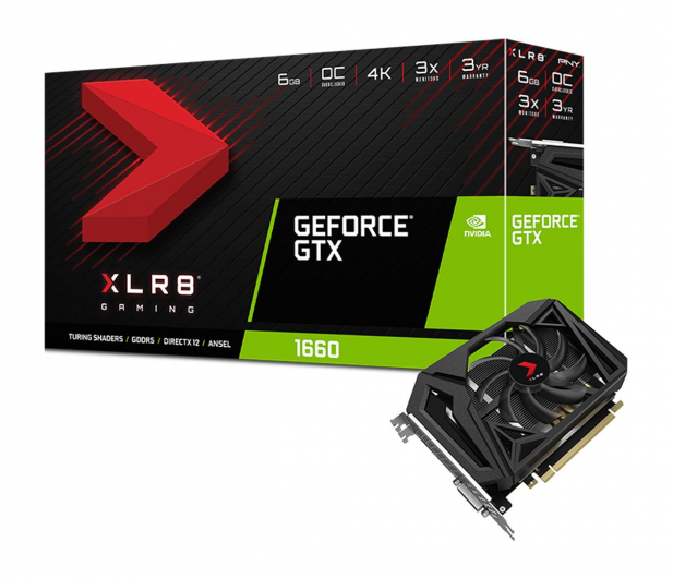 PNY GeForce GTX 1660 XLR8 Gaming OC SF 6GB GDDR5 - 485611 - zdjęcie