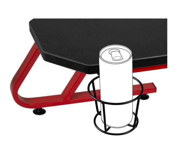 SpeedLink SCARIT Gaming Desk (Czarno-Czerwone) - 487363 - zdjęcie 4