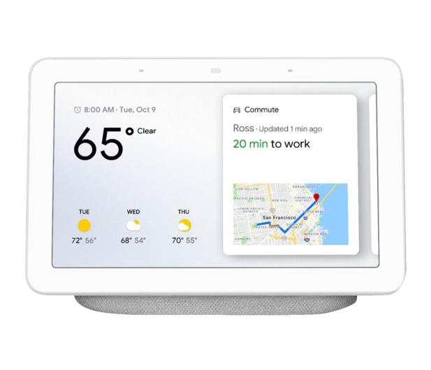 Google Home Hub biały  - 486933 - zdjęcie