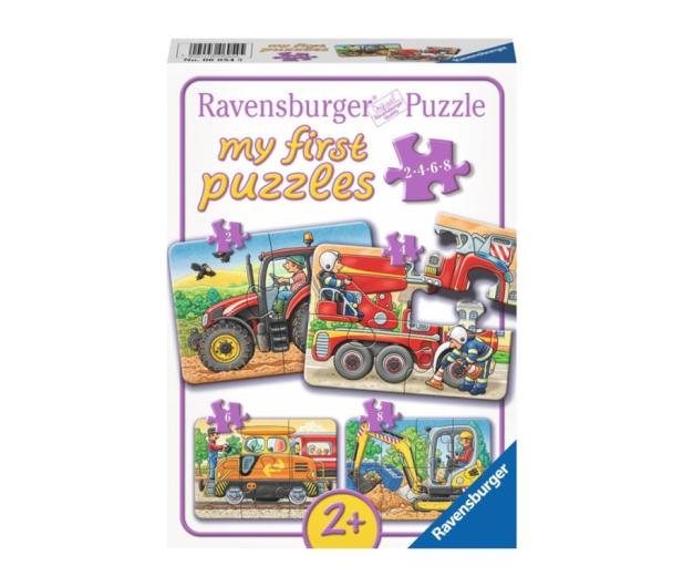 Ravensburger Puzzle drewniane Ciężka praca - 481751 - zdjęcie