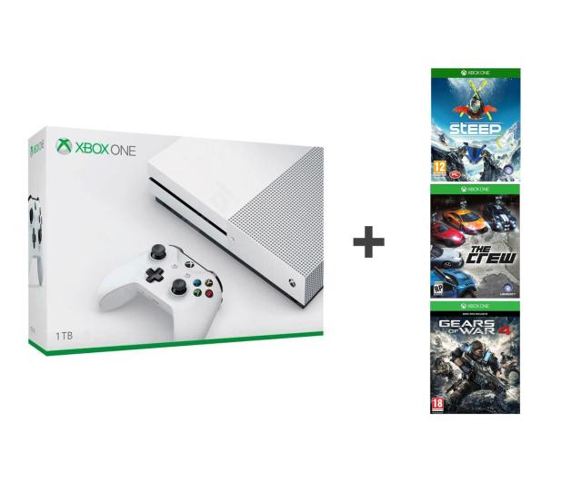 Microsoft Xbox One S 1TB + GoW4 + The Crew + Steep - 484580 - zdjęcie