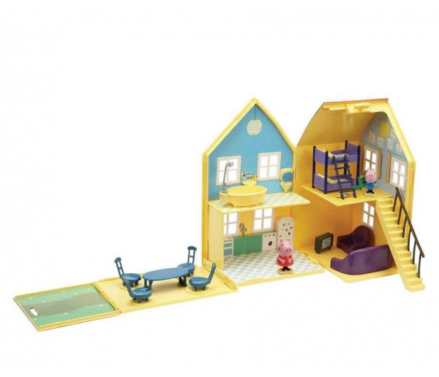 TM Toys Świnka Peppa Domek deluxe z 4 figurkami - 206837 - zdjęcie