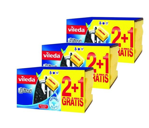 Vileda Zmywak Glitzi 2+1 zestaw 9 sztuk - 492770 - zdjęcie
