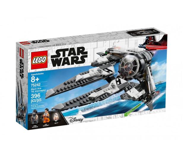 LEGO Star Wars TIE Interceptor Czarny As - 490083 - zdjęcie