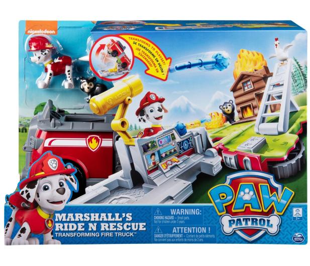 Spin Master Psi Patrol Transformujący wóz strażacki Marshall  - 495942 - zdjęcie 5