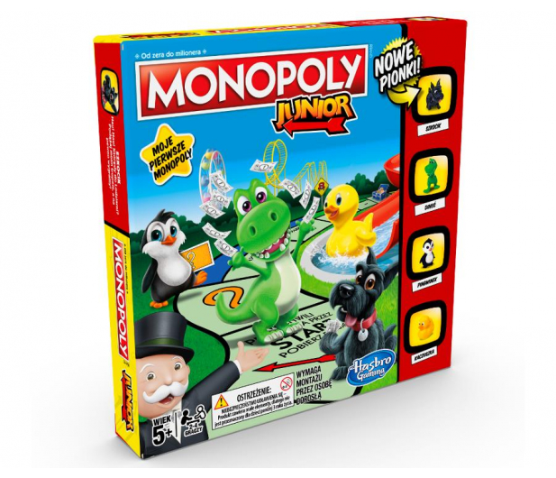 Hasbro Monopoly Junior wersja 2019 - 175891 - zdjęcie 2