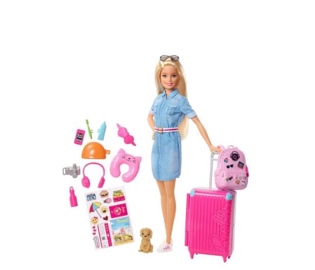 Barbie Lalka w podróży + akcesoria - 476426 - zdjęcie