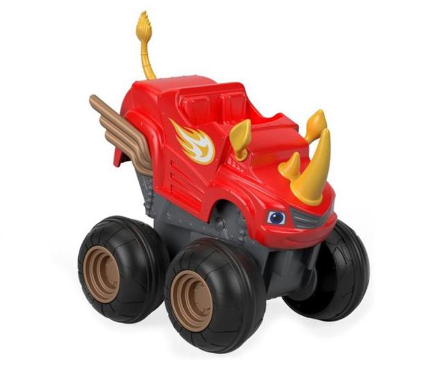 Fisher-Price Blaze Pojazd Naciśnij i Jedź Rhino Blaze  - 421032 - zdjęcie