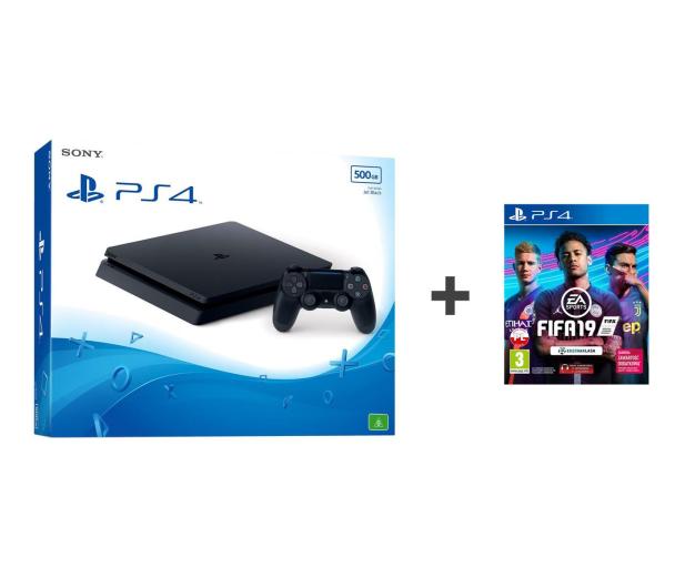 Sony PlayStation 4 Slim 500GB + FIFA 19 - 497851 - zdjęcie