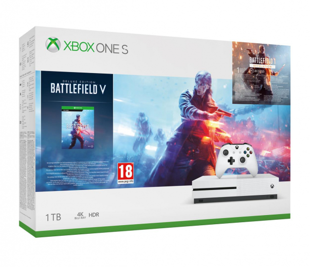 Microsoft Xbox One S 1TB + BFV + BF 1942 + EA Access - 487399 - zdjęcie