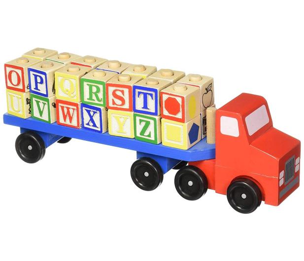 Melissa & Doug Drewniana ciężarówka z klockami - 500644 - zdjęcie 2