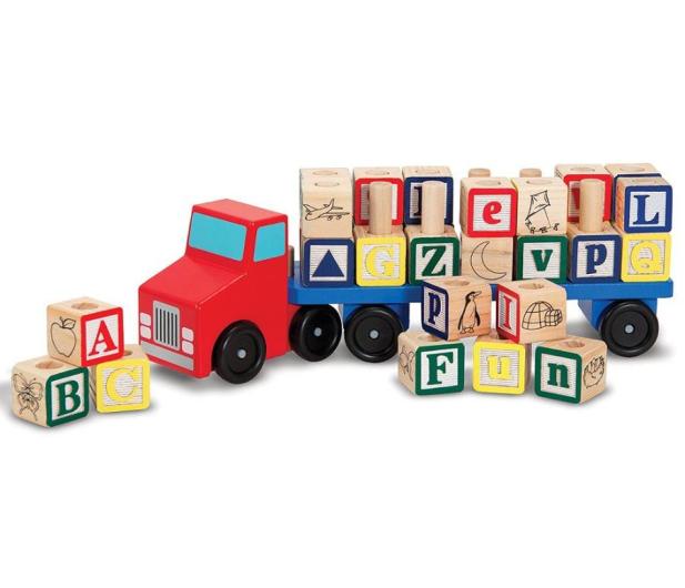 Melissa & Doug Drewniana ciężarówka z klockami - 500644 - zdjęcie