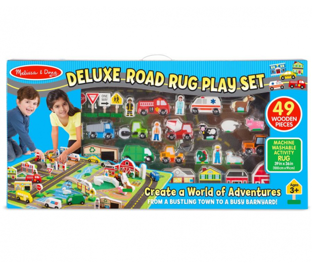 Melissa & Doug Deluxe Road Rug Play Set mata 49 el - 500655 - zdjęcie