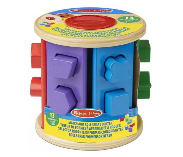 Melissa & Doug Drewniany walec sorter kształtów i kolorów - 500695 - zdjęcie