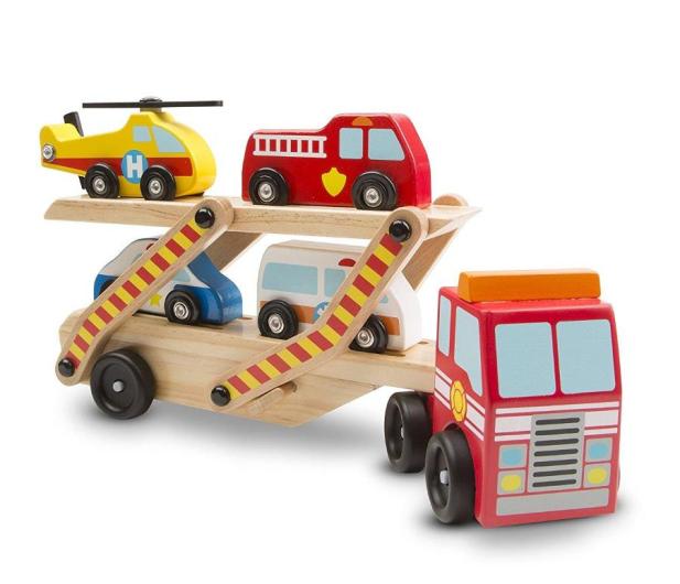 Melissa & Doug Laweta drewniana z samochodzikami - 500638 - zdjęcie