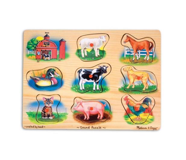 Melissa & Doug Puzzle drewniane Farma - 500401 - zdjęcie