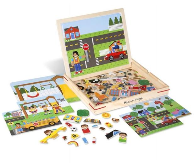 Melissa & Doug Magnetyczna gra obrazkowa Miasto - 500775 - zdjęcie