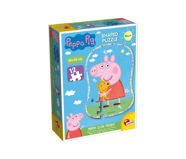 Lisciani Giochi Świnka Peppa puzzle kształt Peppa i Teddy - 502167 - zdjęcie
