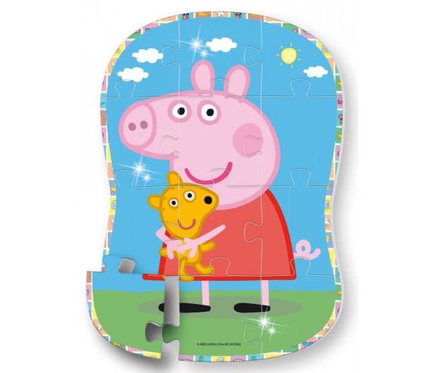 Lisciani Giochi Świnka Peppa puzzle kształt Peppa i Teddy - 502167 - zdjęcie 2