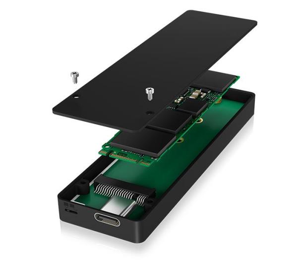 ICY BOX Obudowa do dysku M.2 SATA (USB-C, B lub B+M Key) - 499603 - zdjęcie 4