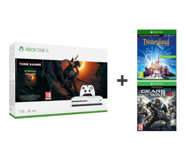 Microsoft Xbox One S 1TB SOTTR+Disneyland Adventures+GOW - 499797 - zdjęcie