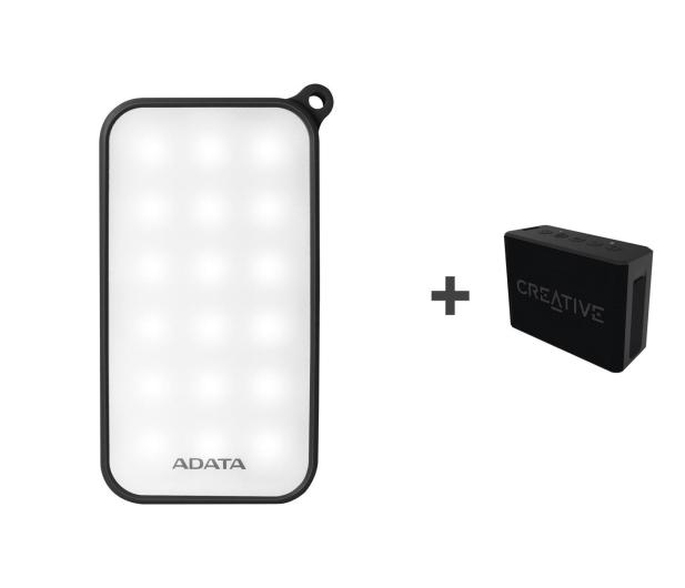 ADATA Power Bank D8000 LED + Głośnik Muvo 1C (czarny) - 500102 - zdjęcie