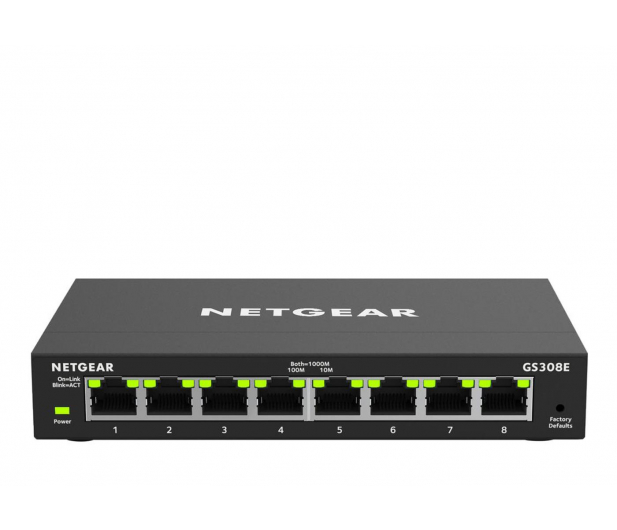 Netgear 8p GS308E (8x10/100/1000Mbit)  - 495131 - zdjęcie