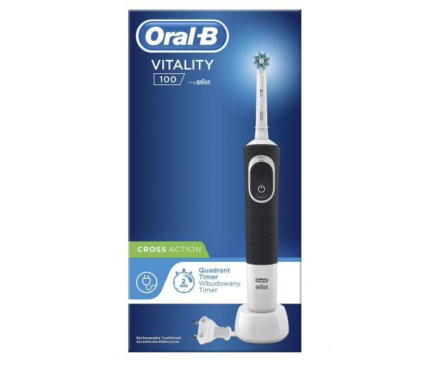 Oral-B Vitality 100 CrossAction Black + końcówki EB20-4 - 527076 - zdjęcie 5