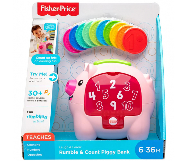 Fisher-Price Edukacyjna Świnka Skarbonka - 488686 - zdjęcie 6
