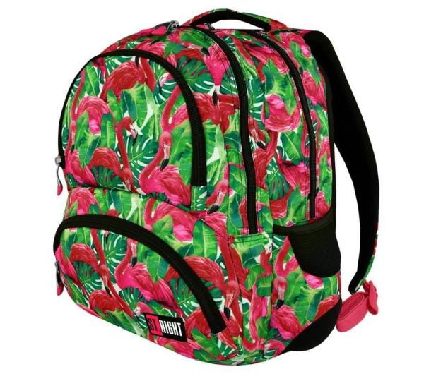 Majewski ST.Right Plecak szkolny Flamingo Green BP-07 - 412643 - zdjęcie 3